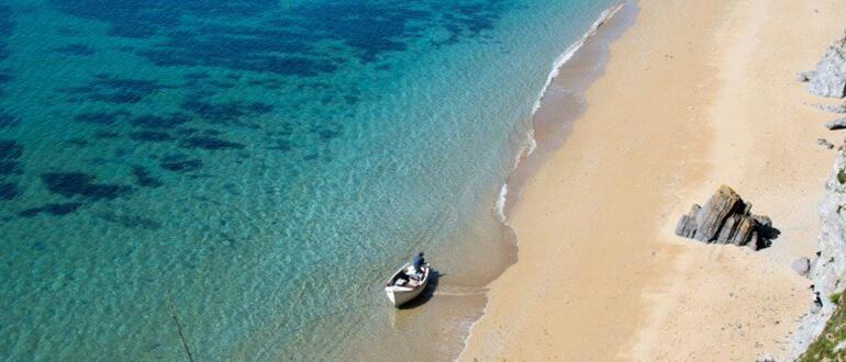 Exotic beach in Cornwall