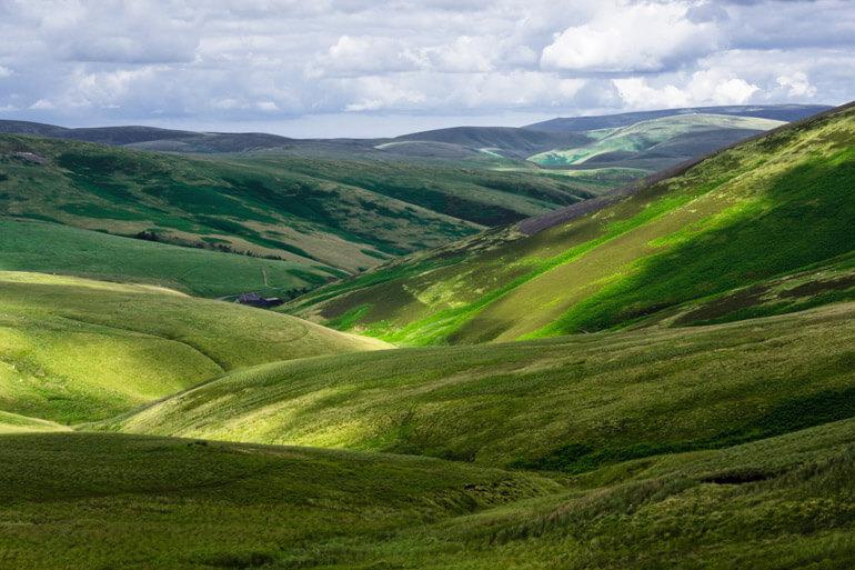 Otterburn Ranges in Northumberland National Park