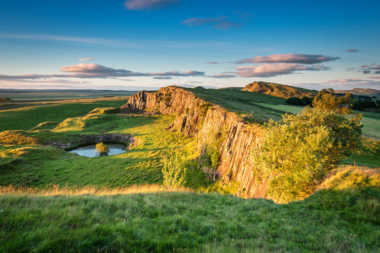 Walltown Crags in Northumberland National Park