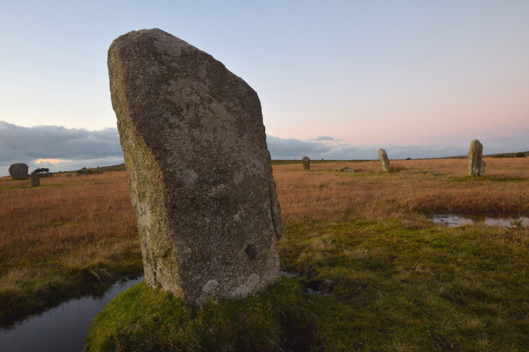 Trippet Stone Circle on Bodmin Moor