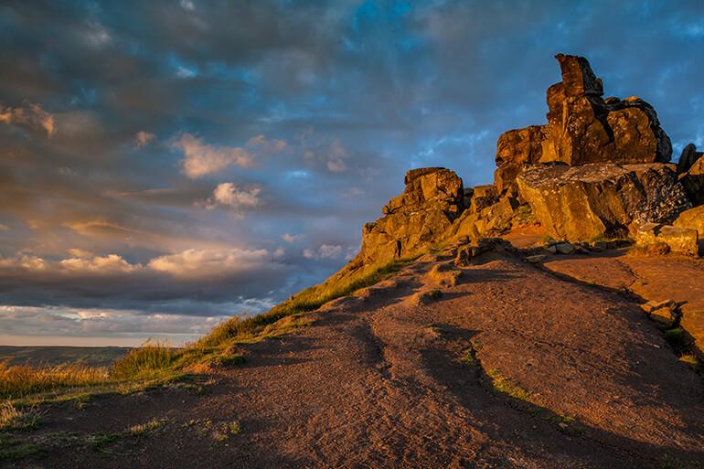 Crag heaven at the Wainstones