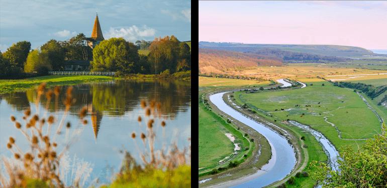 Cuckmere River and Alfriston