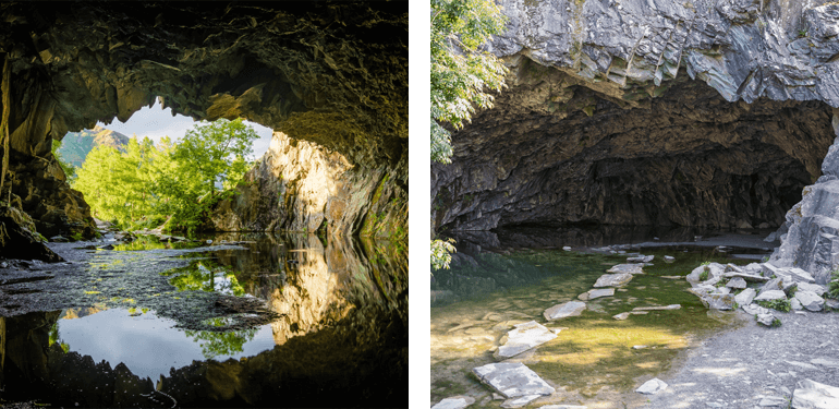 Rydal Cave in the Lake District