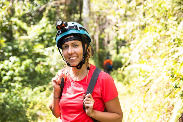 Woman going exploring