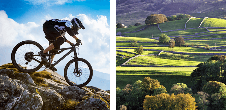 Mountain biking in the Yorkshire Dales National Park