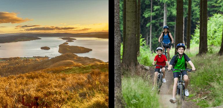 Mountain biking in Loch Lomond