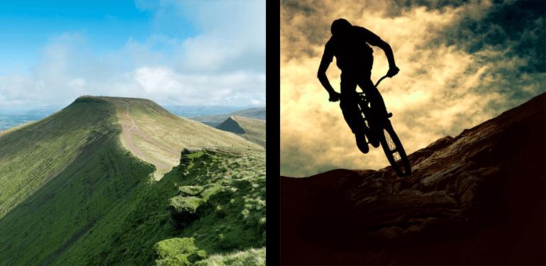 Mountain biking in the Brecon Beacons National Park