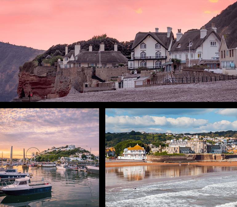 Devon seaside towns of Salcombe, Torquay and Paignton