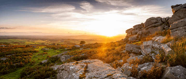 Dartmoor is also beautiful at sunset