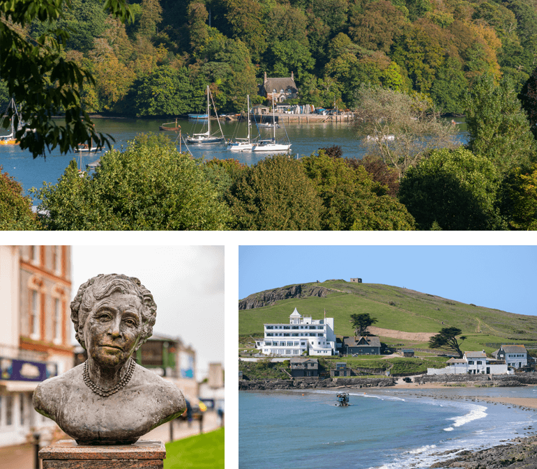 Agatha Christie is an inspiring author from South Devon