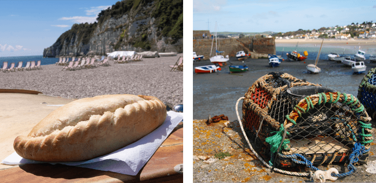 Devon and Cornwall have wonderful food, from pasties to seafood