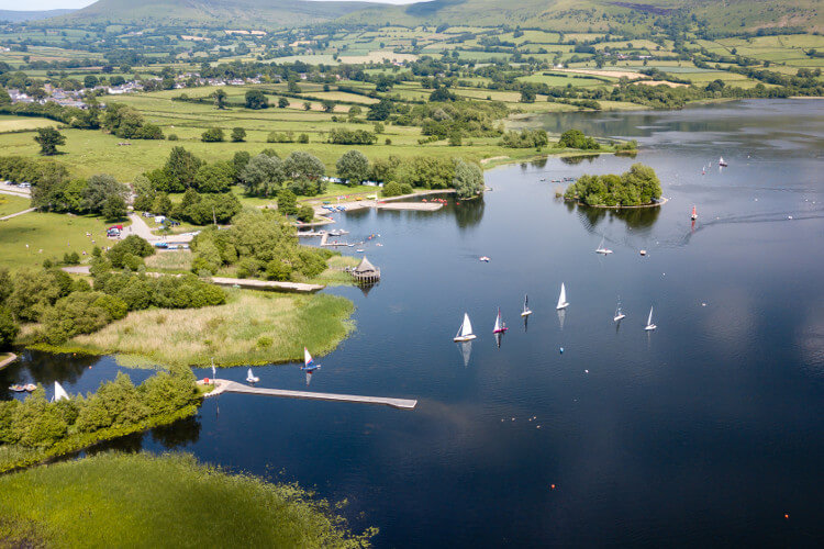 Llangorse - best for water sports enthusiasts