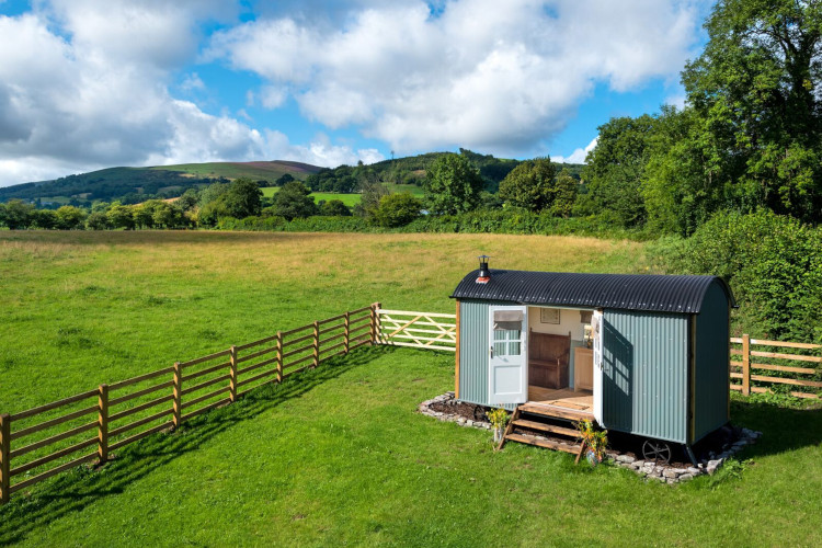 Shepherds hut in the Brecon Beacons
