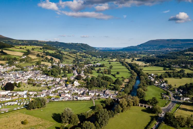 Crickhowell in the Brecon Beacons