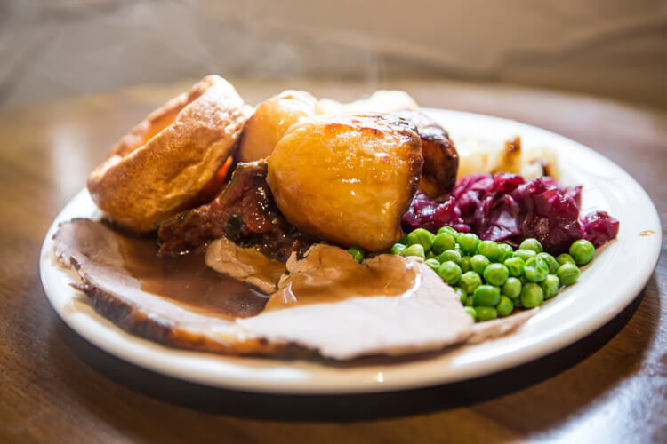 sunday roast - dog-friendly places to eat in Seahouses
