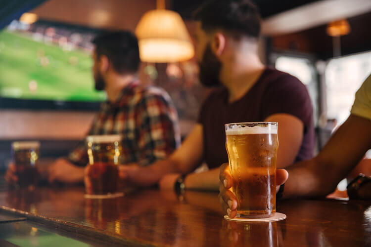 pint and football - dog-friendly places to eat in Seahouses