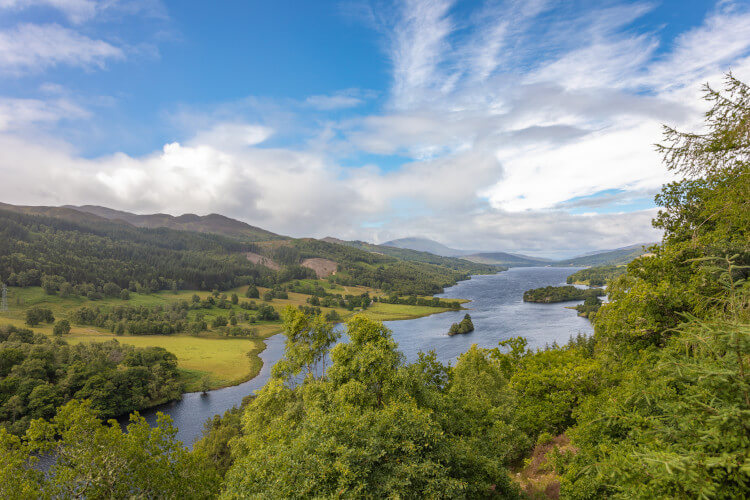 Queen's View Visitor Centre and Loch Tummel