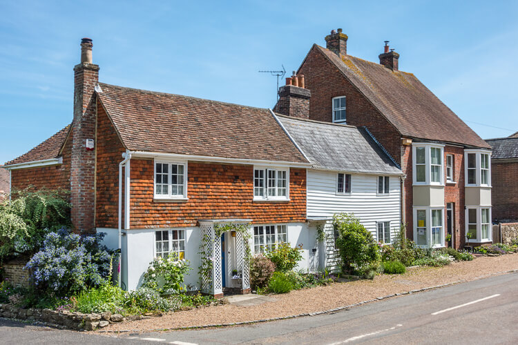 Pretty cottages in Winchelsea, East Sussex