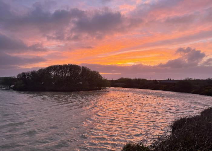 Stunning sunset over Clovelly Lakes