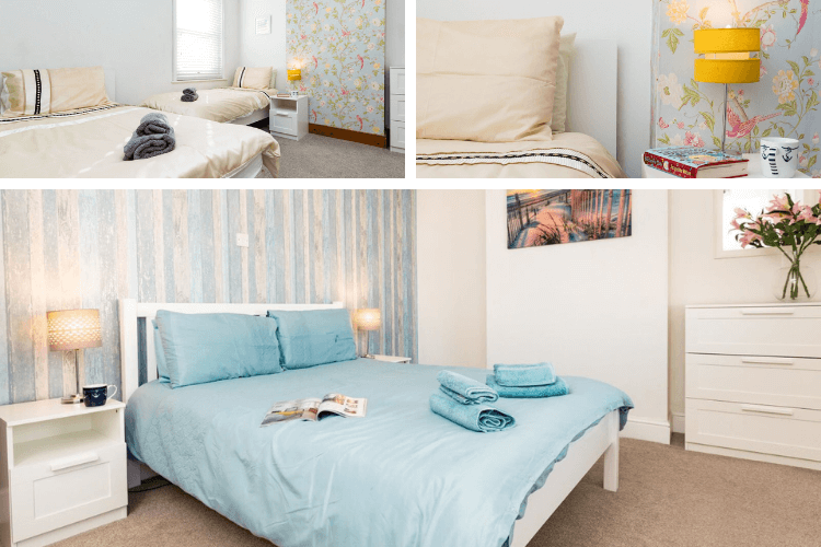 Spacious bedrooms with space for four