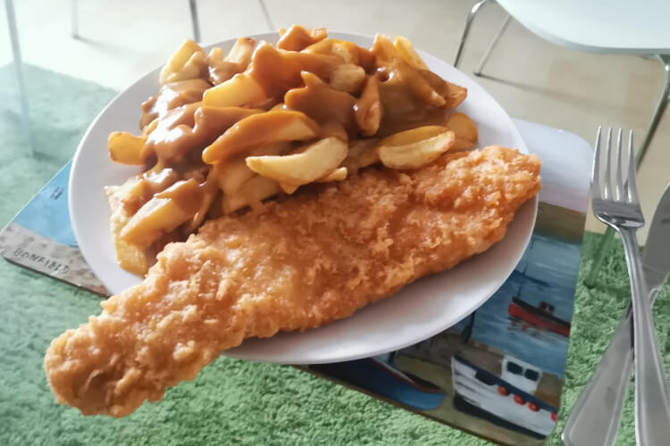 Tasty local fish and chips