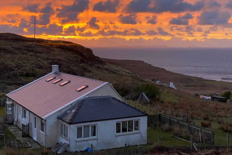 Sunset from Mandallagh Cottage