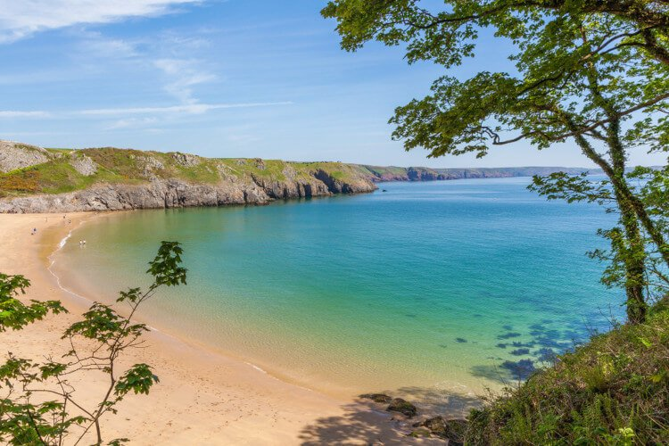 The tropical paradise of Barafundle Bay