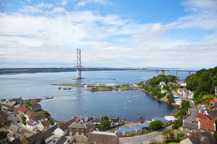 Forth Road Bridge, The Kingdom of Fife, Scotland.