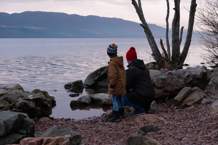 Searching for Nessie at Loch Ness, Highlands