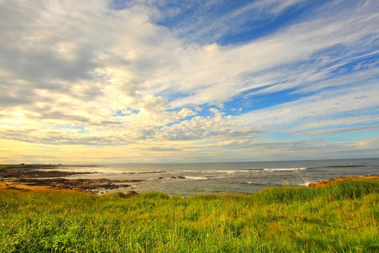View out to see from coastal Fife