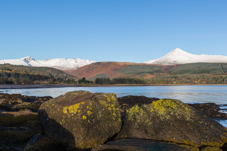 View of Goatfell from Brodick, Arran, Scotland