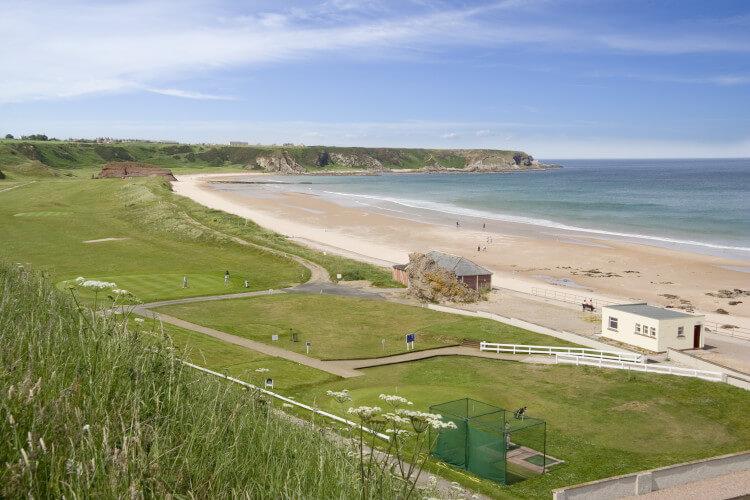 Cullen beach on the Moray coast