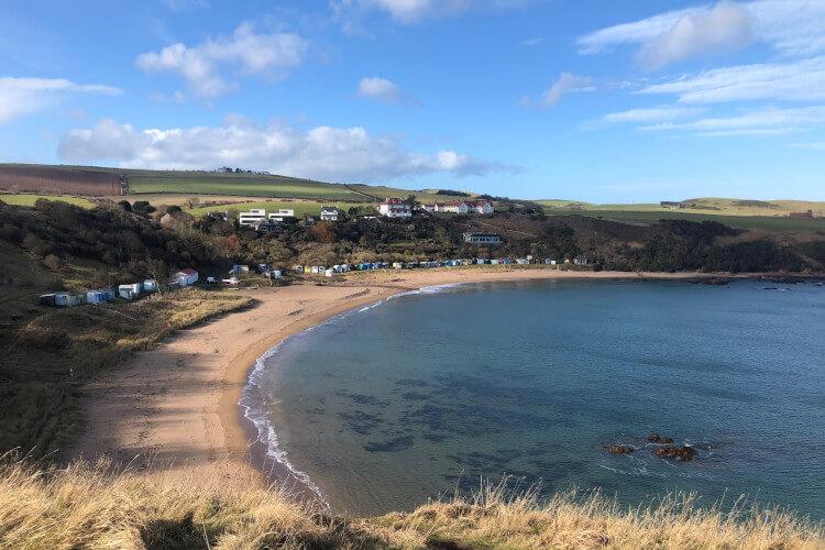 Coldingham Bay on the east coast of Scotland