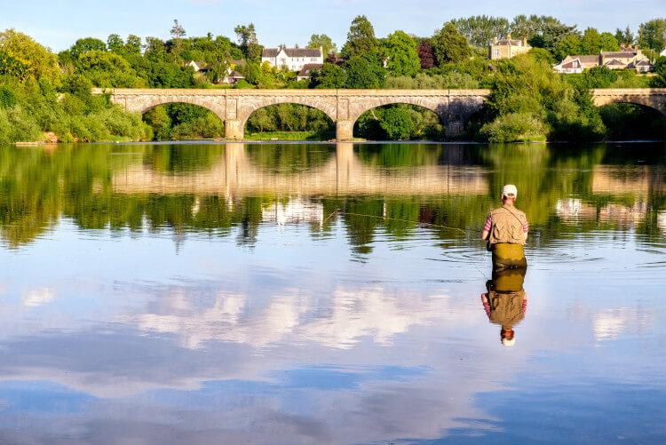Fisherman on the River Tweed, Scotland