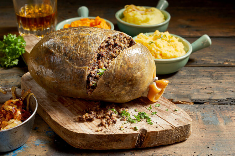 Haggis is a traditional Scottish dish most commonly eaten on Burns Night
