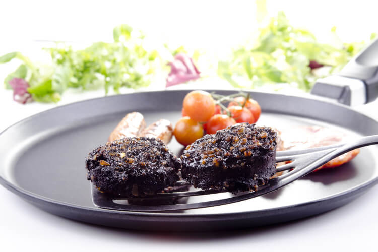 Although an unusual concept, the Scottish black pudding is a delicious creation.