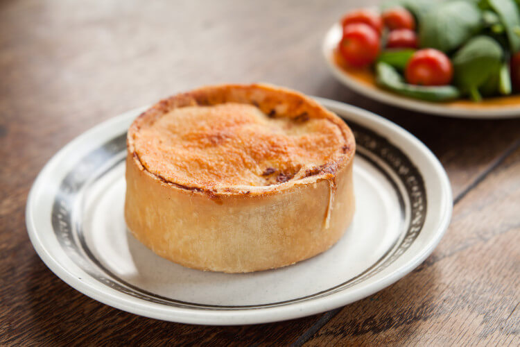 The scotch pie is an yummy no-fuss snack which can easily be eaten on the go, or as a light lunch.