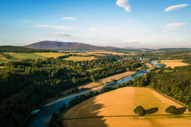 Speyside in the Highlands of Scotland