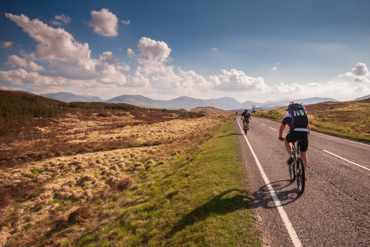 Take on road cycling along some of the most impressive roads in Scotland