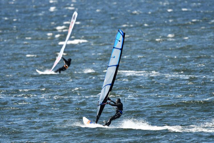 Wind surfing in Scotland