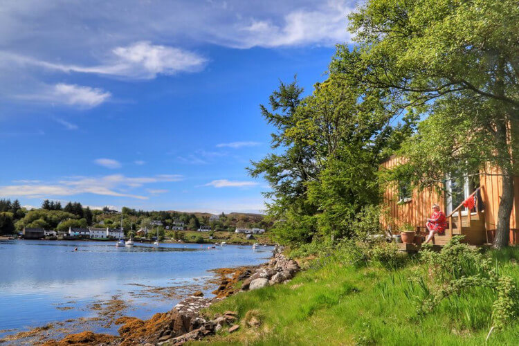 Creel Cabin in the Highlands of Scotland