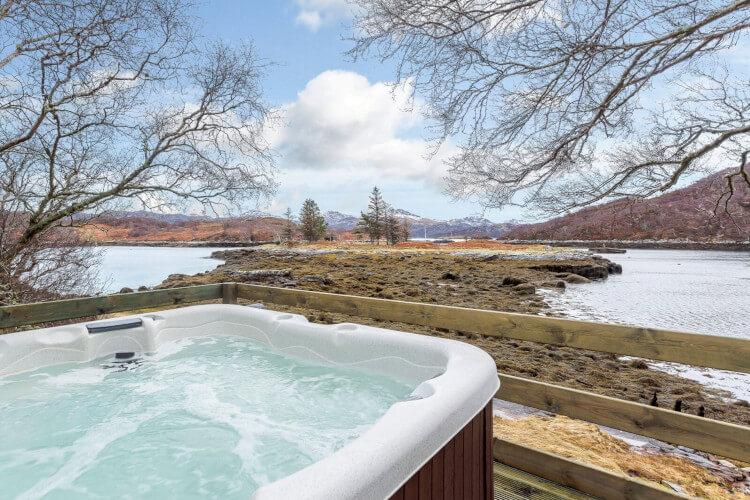 Relax in a hot tub in badachro