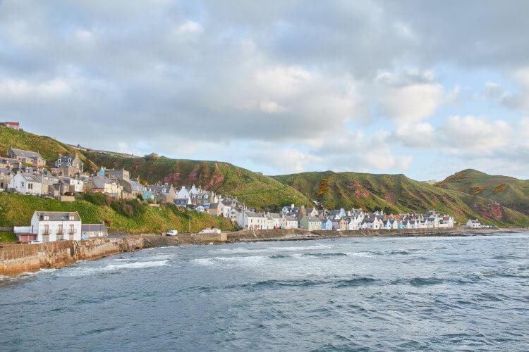 Gardenstown on the east coast of Scotland