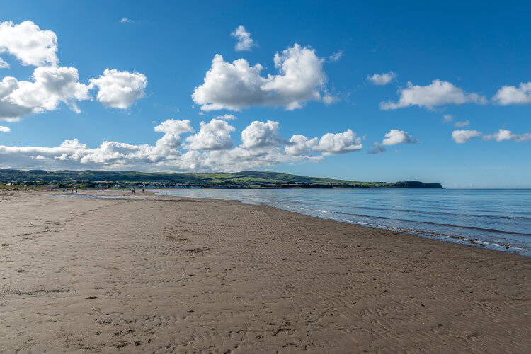 Ayr beach in Scotland