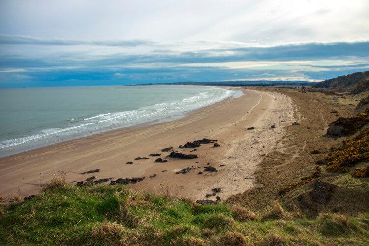 St Cyrus Beach in Aberdeenshire