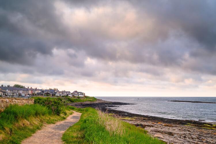 Craster beach in Northumberland