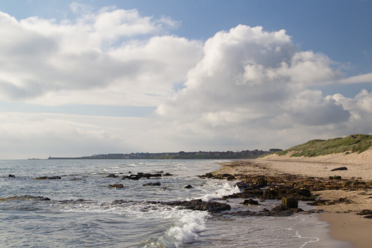 Seahouses beach in Northumberland