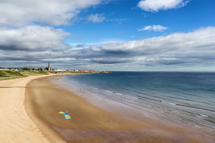 Try out surfing on the Northumberland beaches