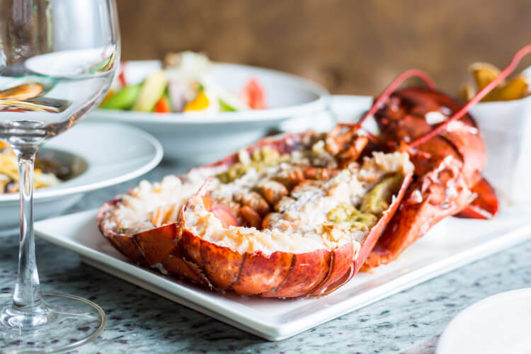 Enjoy lobster caught fresh from the sea in Northumberland.