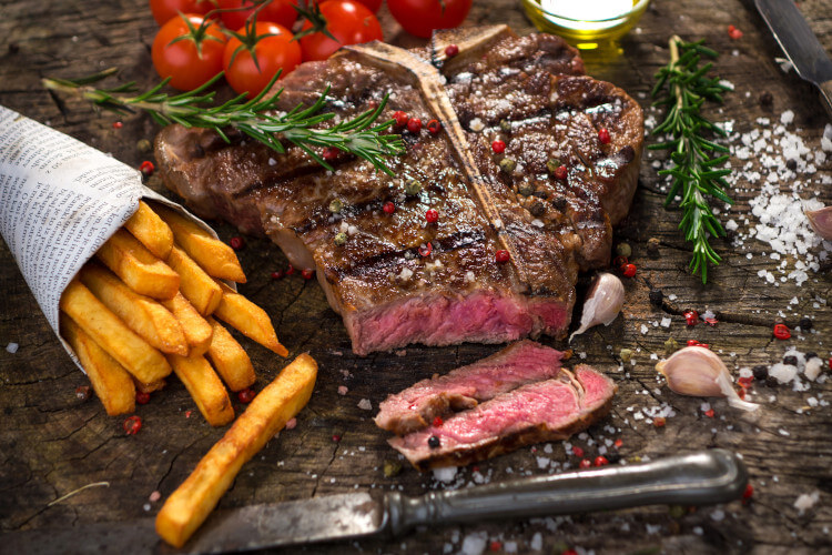 Enjoy a steak lunch in a Northumberland pub.